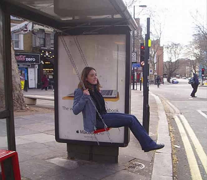 7 ejemplos de Street Marketing en paradas de autobús creativo
