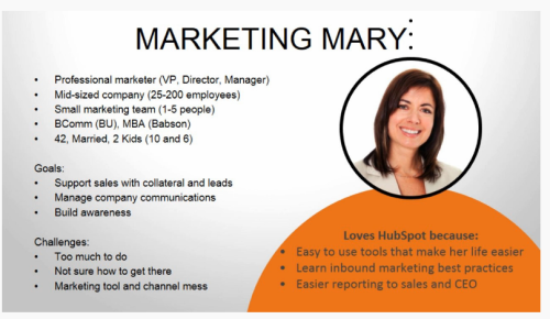 ejemplo de Buyer Persona Marketing Mary