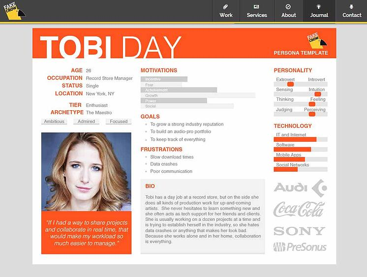 ejemplo de buyer persona tobi day