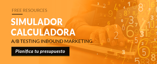 Calculadora A/B Testing Inbound Marketing, Planifica tu presupuesto